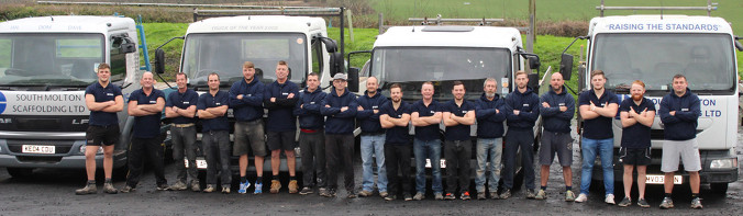 Image of South Molton Scaffoldings' Team