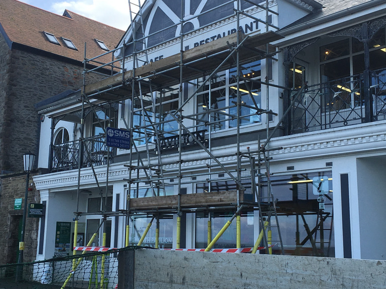 Scaffolding for a Cafe & Restaurant in North Devon